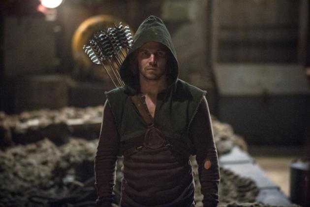 Oliver Looking Very Arrow-like on the Island