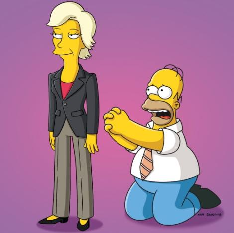 Jane Lynch on The Simpsons