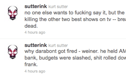 Kurt Sutter Calls Out Matthew Weiner, AMC