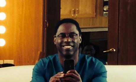 Isaiah Washington Selfie