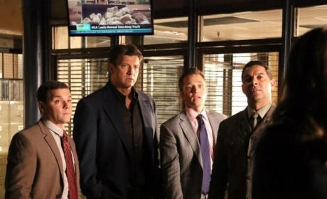 Joshua Bitton, Nathan Fillion, Seamus Dever, Jon Huertas Photo