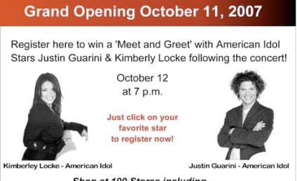 Kimberley Locke and Justin Guarini to Open Texas Mall
