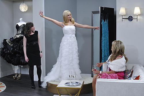 Caroline Models a Gown