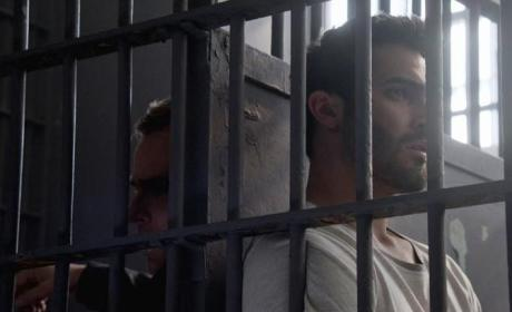 Argent and Derek in Jail