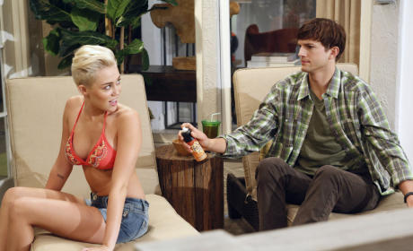 Two and a Half Men Review: Just Being Miley