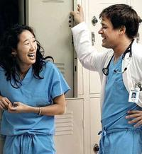 T.R. Knight and Sandra Oh