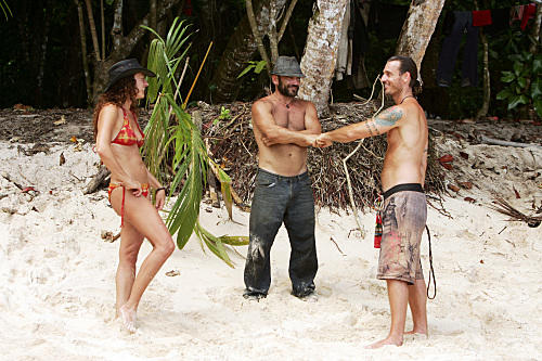 Jerri Manthey, Russell Hantz and Benjamin Wade