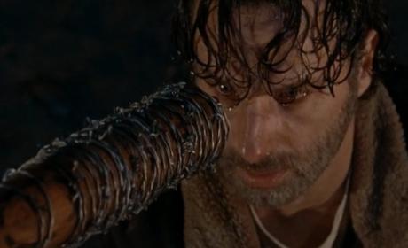 Rick gets the bat - The Walking Dead
