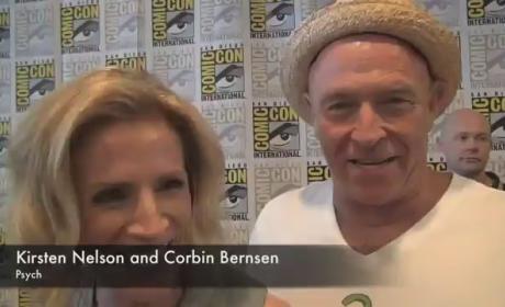 Kirsten Nelson and Corbin Bernsen at Comic-Con
