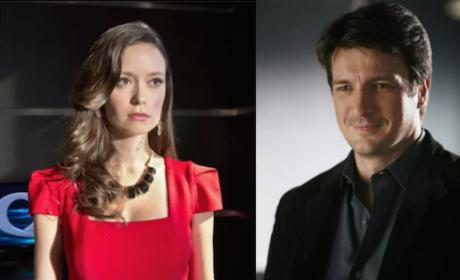 Summer Glau and Nathan Fillion - Castle