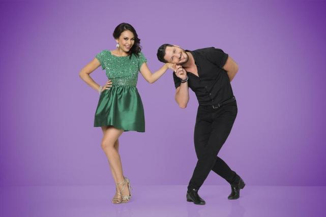 Janel Parrish and Val Chmerkovskiy  - Dancing With the Stars