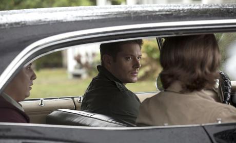 Backseat driver in the Impala - Supernatural Season 11 Episode 5