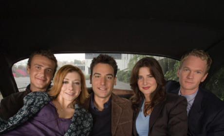 The Gang in a Limo
