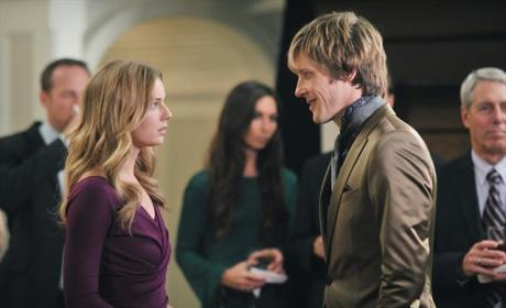 Emily Thorne and Nolan Ross