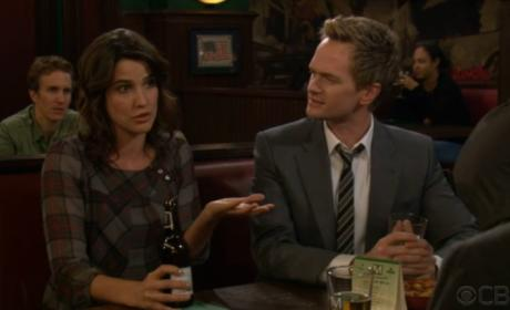 Robin and Barney at the Bar