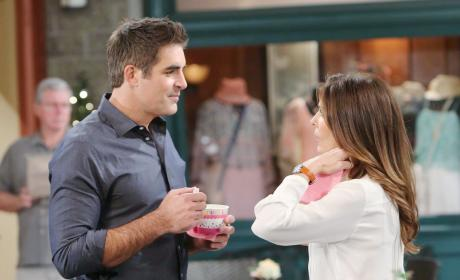 Rafe and Hope Share a Yogurt - Days of Our Lives