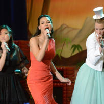 Tina, Santana and Brittany