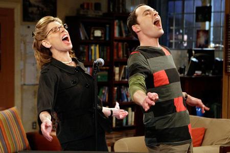 Sheldon and Mrs. Hofstadter Sing
