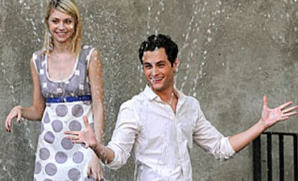 Penn Badgley Gets Wet