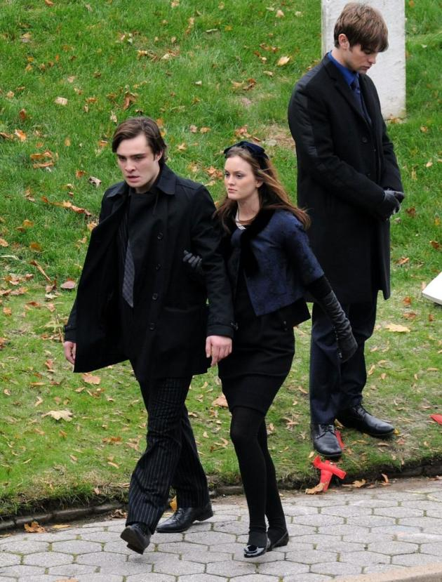Chuck and Blair at the Funeral