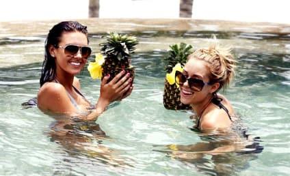 Audrina Patridge, Lauren Conrad Cool Off in Cabo
