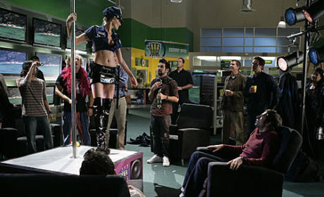 Tricia Helfer as Alex Stripping