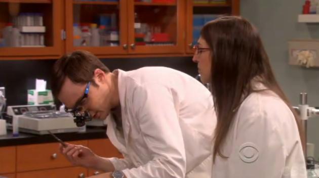 Sheldon in the Lab