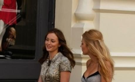 Blair and Serena Walk and Talk