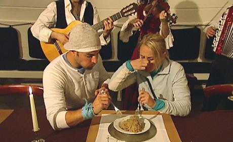 Jordan and Jeff Inhale Sauerkraut