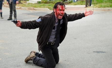 Bloody Rick Grimes - The Walking Dead Season 5 Episode 15