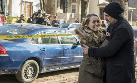 Olinsky Comforts a Victim - Chicago PD Season 3 Episode 15