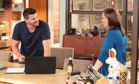 Brennan Welcomes Booth Home - Bones Season 10 Episode 1