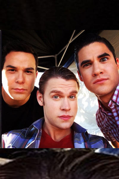 Skylar Astin on Glee Set