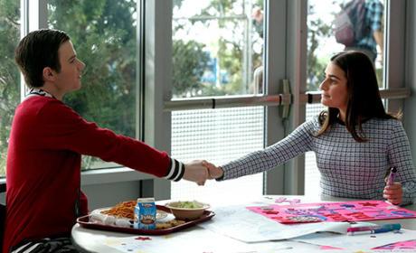 Kurt and Rachel's First Meeting - Glee Season 6 Episode 12