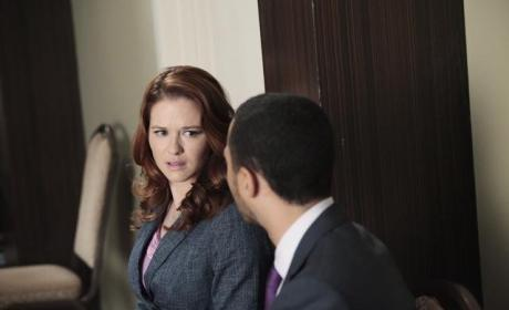 "Grey's Anatomy Exclusive: Sarah Drew on Surprising Hook Up, ""Gigantic"" Season Finale Event"