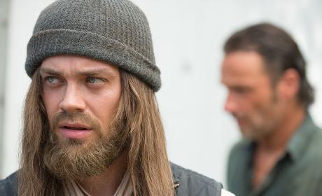Jesus arrives - The Walking Dead