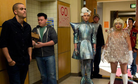Glee Goes Gaga: Behind-the-Scenes Photos