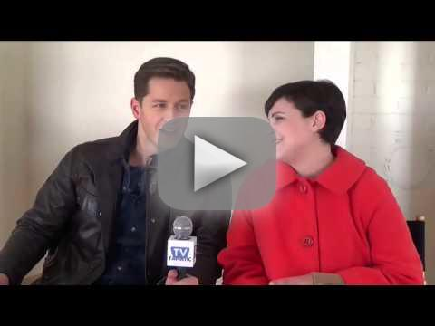 Josh Dallas and Ginnifer Goodwin Set Visit