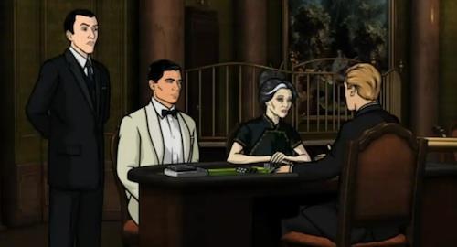 Archer Plays Cards