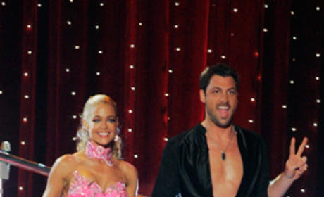Maksim Chmerkovskiy and Denise Richards Pic