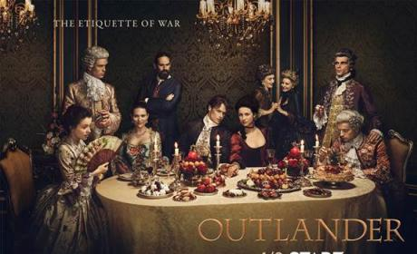Outlander Season 2 Poster: Jamie and Claire Take on Opulent Parisian Society