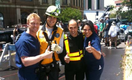Grey's Anatomy Set Photo: Sinkhole Smiles