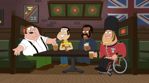 Family Guy Goes British