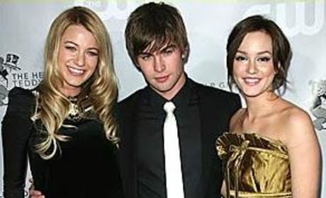 Trio of Gossip Girl Stars Attends Charity Gala
