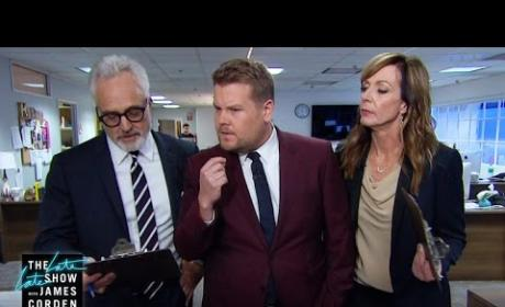 Allison Janney and Bradley Whitford Walk and Talk with James Corden, Pay Homage to The West Wing