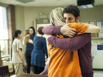 Piper and Larry Hug