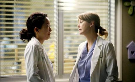 Ellen Pompeo Dishes on Meredith-Cristina Episode