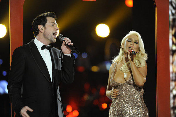 Chris Mann and Christina Aguilera