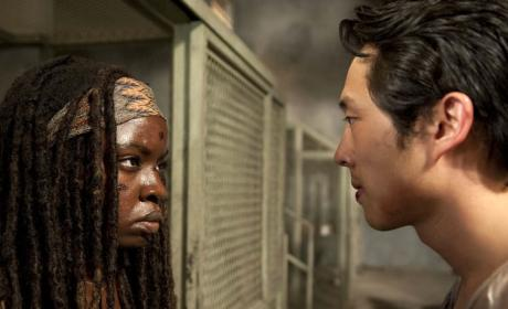 Glenn vs. Michonne