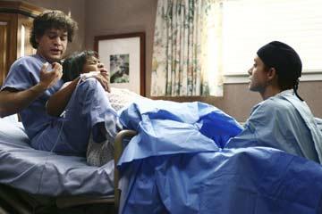 Pregnant Miranda, George & Addison